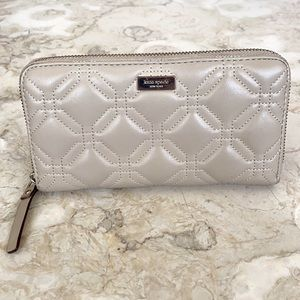Kate Spade Leather Astor Court Neda Quilted Wallet